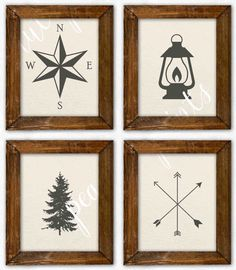 Woodland Boy Room Art Woodland Nursery Art by PeanutPrintsBoutique