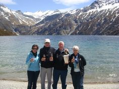 Mr & Mrs Aitken and Mr & Mrs Beuls in the Southern Alps! #NewZealand #Luxury #Travel #Alpine
