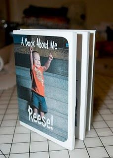 diy kids book.  Make a photo book of your child and describe all the new things they are doing.