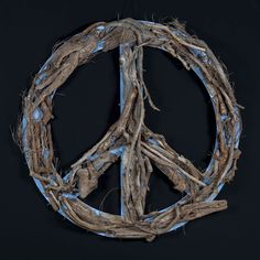 Peace Vol 5 Grapevine Wreath, Grape Vines, Hanukkah, Peace, Wreaths, Home Decor, Decoration Home, Door Wreaths, Room Decor