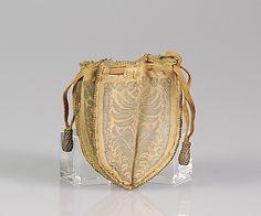 Fourth Quarter 17th Century European Pouch made of Silk & Metallic