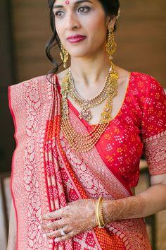 Joban & Sarath by Heather Cook Elliott Photography Silk Saree Blouse Designs, Bridal Blouse Designs, Kurta Designs, Banaras Sarees, Bandhani Saree, Sari, Blouse Designs Catalogue, Navratri Dress, South Indian Sarees
