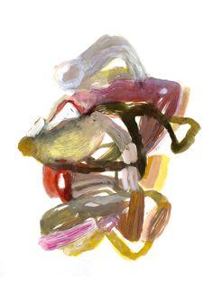 Abstract painting, ink and gouache on paper – Olivier Umecker Peinture abstraite, encre et gouache sur papier