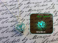 Frozen Heart Galaxy Glowing Glass Necklace by MoniqueLula for Glowies.net