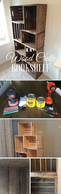 Check out the tutorial: #DIY Crate Bookshelf @istandarddesign