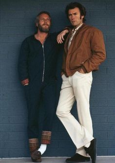 """theactioneer: """"Paul Newman and Clint Eastwood (1972) """""""