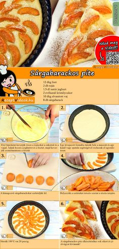Apricot pie recipe with video - cake recipe / apricot cake baking - DESSERT Rezepte mit Videos, mit Rezeptkarten - Pie Dog Recipes, Easy Cake Recipes, Cream Recipes, Baking Recipes, Cookie Recipes, Apricot Pie, Apricot Dessert, Chicken Cake, Dog Cakes