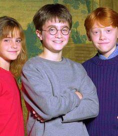 Emma Watson, Daniel Radclffe, and Rupert Grint...How friggin' cute is this?