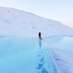 Enchanting! When you visit Pamukkale in Denizli along the Aegean, it's just impossible not to fall under the spell of its natural beauty!