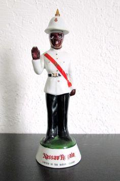 Vintage Bahama Nassau Royale Liquor Bottle Policeman