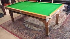 7ft Riley Antique Snooker Dining Table.Oak.square leg.B514   Browns Antiques…