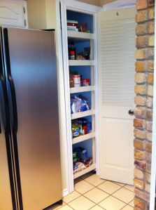 Slide out pantry shelving