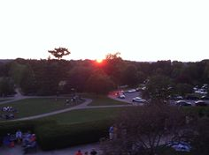 A sunset photo taken during one of the summer dances at Ault Park.
