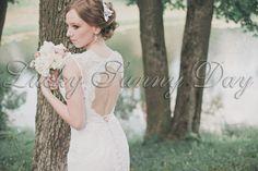 """Прекрасная невеста с букетиком в стиле """"Рустик"""""""