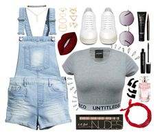 """""""Nudes -j"""" by j-and-r ❤ liked on Polyvore featuring H&M, Lime Crime, Elie Saab, Marc Jacobs, NARS Cosmetics, Off-White, Monki, Wet Seal, Old Navy and Forever 21"""