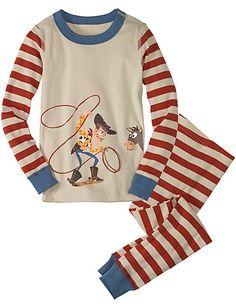 Disney/Pixar Woody & Bullseye Long John Pajamas from Hanna Andersson