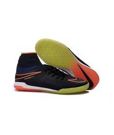 Nike HypervenomX Proximo IC SÁLOVÁ high tops kopačky černá žlutý oranžový.  Botas De Futbol ... 8c126f4210714