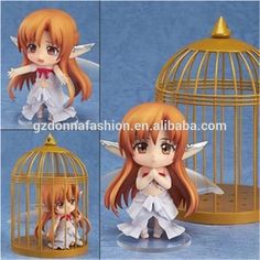 Toys Wholesale Q Version Clay Sword Art Online Birdcage Yuuki Asuna Action Figure 10cm, View Nendoroid, donnatoyfirm Product Details from Guangzhou Donna Fashion Accessory Co., Ltd. on Alibaba.com