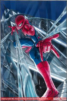 Amazing Spider-Man: Renew Your Vows #4 Manga variant cover by Yusuke Murata