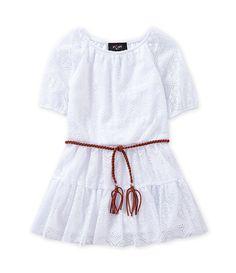 I.N. Girl 4-6X Lace-Overlay Peasant Dress | Dillards.com