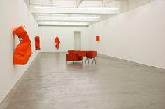 """View of Angela de la Cruz """"Transfer"""" Anna Schwartz Gallery, Melbourne, 2012."""