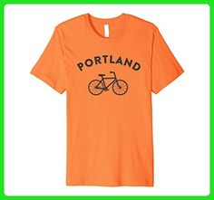 Mens Portland T-Shirt City Bike Premium Retro Style Cycling Tee 2XL Orange - Retro shirts (*Amazon Partner-Link)