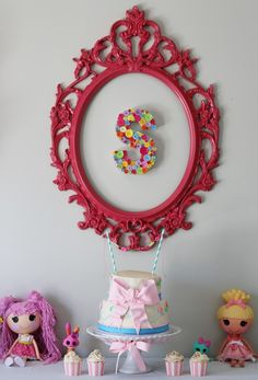 Love the button letter at this Lalaloopsy girl birthday party!  See more party ideas at CatchMyParty.com!