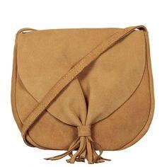 Bolsa de couro camurça Boho camel