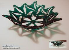 """Starflower"" fused glass bowl"
