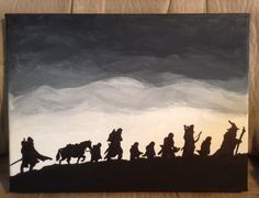 Lord of the Rings canvas painting I made on 8x12 canvas