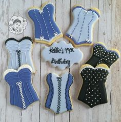 Kellie's 44th Birthday Corset Cookies.