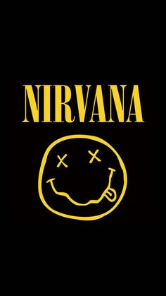 Music Wallpaper, Dark Wallpaper, Photo Wall Collage, Picture Wall, Nirvana Logo, Nirvana Art, Rock Band Posters, Rock Band Logos, Image Deco
