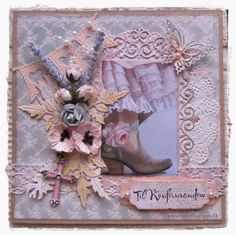 Confirmation Cards, Die Cut Cards, Vintage Shabby Chic, Burlap Wreath, Scrap, Greeting Cards, Sewing, Frame, Teenager