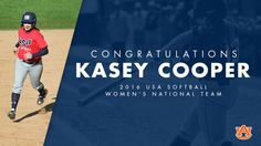 For the first time in Auburn softball history, we  will have a presence on the international scene. Kasey Cooper earned a spot on the 2016 USA Women's National Team!