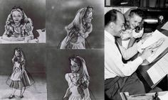 """Kathryn Beaumont, the actress for Alice in Disney's """"Alice in Wonderland"""", doing live-action reference for Disney animators. Kathryn Beaumont, Live Action, Best Funny Pictures, Alice In Wonderland, Cosplay, Actresses, Manga, History, Memes"""