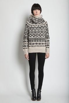 graphic, modern fair isle...