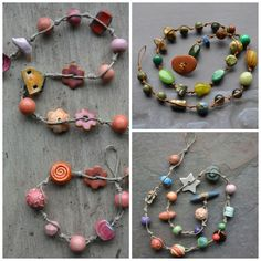 Beautifully display orphaned beads by making a simple knotted necklace. This step-by-step tutorial will show you how to make the most of your stash. #necklacetutorials