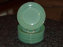 Fire King Jadeite Restaurant Ware Dinner Plates