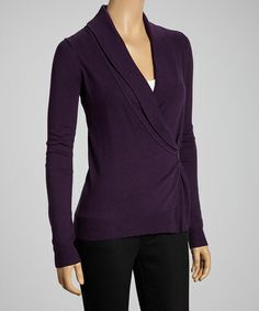 Take a look at this Russian Purple Shawl Collar Cardigan by press on #zulily today!