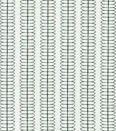 Home Decor Print Fabric- Nate Berkus  Cole Stripe Paramount Ebony  Would be great for drapes. Masculine enough for a boy's bedroom, but not childish so it will last a few years.