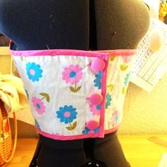 Sixties Inspired Flower Power Playsuit Backside