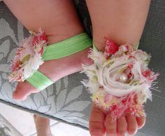 Baby Barefoot Sandles. $10.00, via Etsy. too cute!