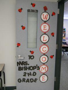 Mrs. Bishop's Classroom: Classroom door - ladybugs - Welcome to 2nd Grade