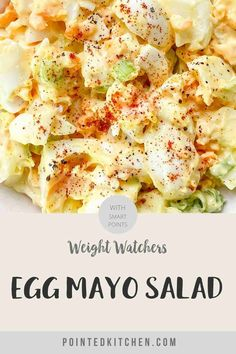 This easy to make Egg Salad is perfect for anyone following the Weight Watchers plans. A tasty WW lunch recipe that is 1 SmartPoint per portion on Weight Watchers Purple, Blue and (the old) Freestyle plans and 5 SmartPoints on the Green plan. #weightwatcherslunchrecipes #weightwatchers #freestyle #wwblueplan #wwgreenplan #wwpurpleplan #wweggsalad Weight Watchers Pasta, Weight Watchers Lunches, Weight Watchers Plan, Ww Recipes, Lunch Recipes, Healthy Food Options, Healthy Recipes, Easy Egg Salad, Recipe Please