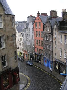 West Bow, Edinburgh, one of the streets in the old town where my ancestors lived in the 1800's early 1900's