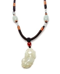 £34.99 Chinese Fortune Tiger Carved Jadeite Jade Talisman Amulet Necklace, Jade Pendant 40x22x8 mm, Adjustable Cord 40x70cm - Fortune Feng Shui Chinese Zodiac Jewelry by Feng Shui & Fortune Jewelry, http://www.amazon.co.uk/dp/B00DHLE9WO/ref=cm_sw_r_pi_dp_bd0Wrb1RJYZGY