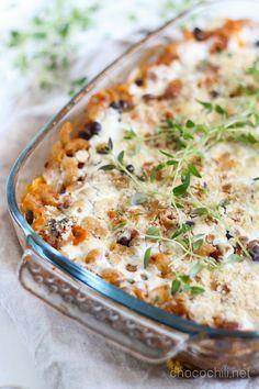 Chili Sin Carne -pastavuoka I Love Food, Lasagna, Quiche, Macaroni And Cheese, Chili, Vegetarian Recipes, Pasta, Vegan Food, Breakfast