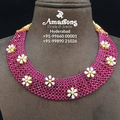 Light Weight Gold Bread Necklace at Amarsons jewellery.For More Info Whatsapp on : +91-9966000001 | +91-9989021026. 17 July 2019
