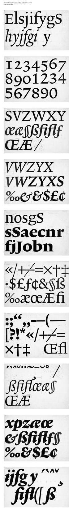 Original type sketches. (Via BDIF)