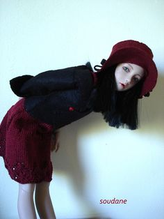 black cherry bjd outfit for narae   Flickr - Photo Sharing!